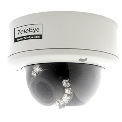 TeleEye DF288 outdoor IR dome camera with 540 TVL and auto iris