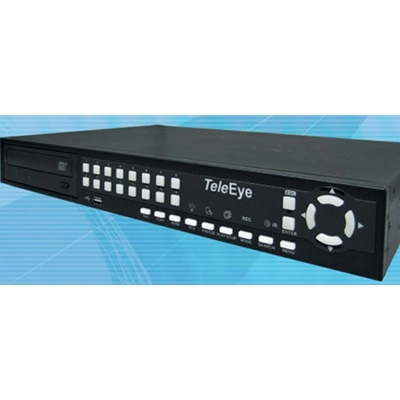 TeleEye RN688 is an 8-input DVR with 2 internal hard drives and a built-in CD writer.