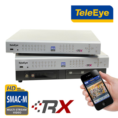 TeleEye adds mobile capabilities to the year best selling RX Series video recording server