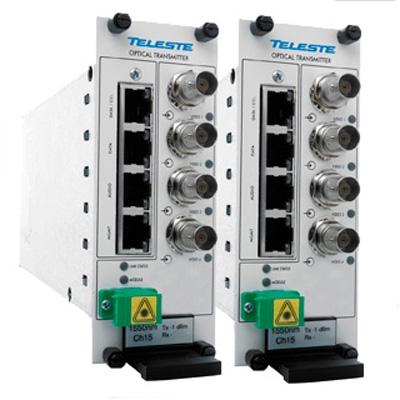 Teleste CEV4U four channel video modem