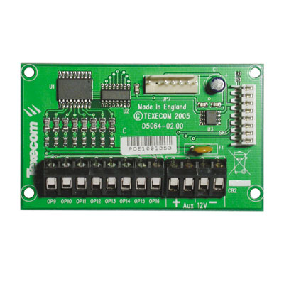 Texecom Premier OP8 plug-on output expander with 8 programmable outputs