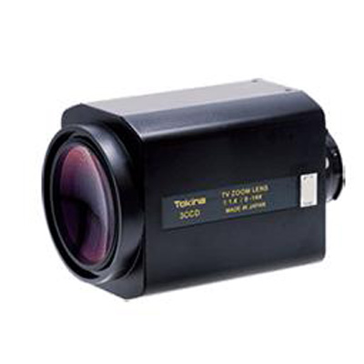 Tokina TM18Z0814_3CAP motorised CCTV zoom lens with auto iris