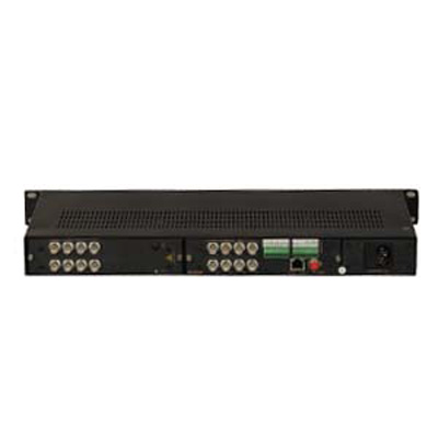 VADSYS VDS21688-E 16 channel video server with 8 channel audio, 3–channel data and Ethernet transmitters and receivers