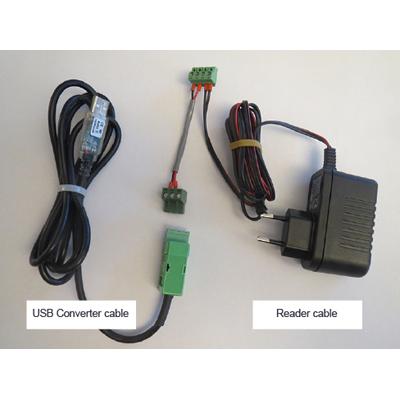 Vanderbilt AR11S-MF mifare card reader with an adapter plate