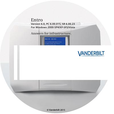 Vanderbilt Entro SW TS SiPass Entro software - Terminal Server edition