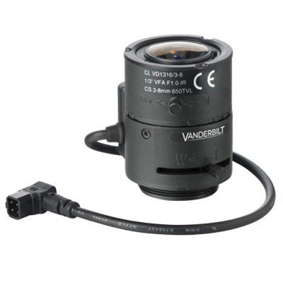 Vanderbilt M13VG308 Megapixel Varifocal Lens 3–8mm CS mount
