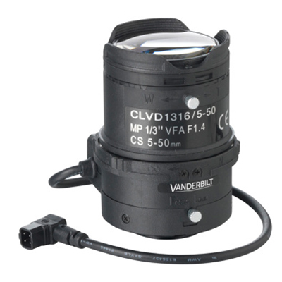 Vanderbilt M13VG550 Megapixel Varifocal Lens 5–50mm CS mount
