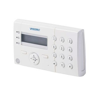 Vanderbilt SPCK421.100 - LCD keypad with 2 x 16 characters and integrated card reader
