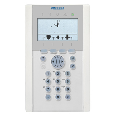 Vanderbilt SPCK620.100 LCD keypad with graphical display