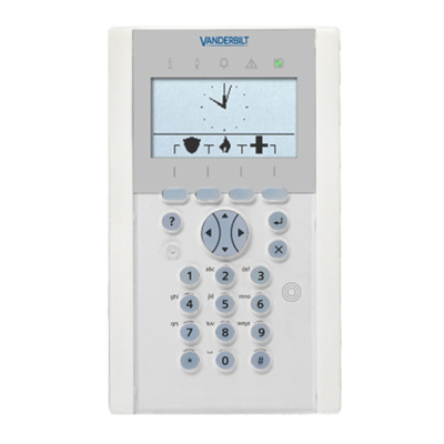 Vanderbilt SPCK623.100 LCD keypad with graphical display, card reader and audio