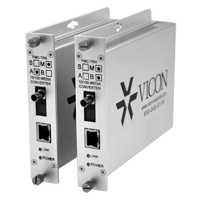 Vicon FMC-TRRM media converter is a low-cost and effective solution for extending video network's range
