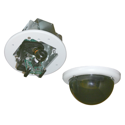 Vicon V926 impact-resistant analogue dome camera for in-ceiling and in-soffit mounting