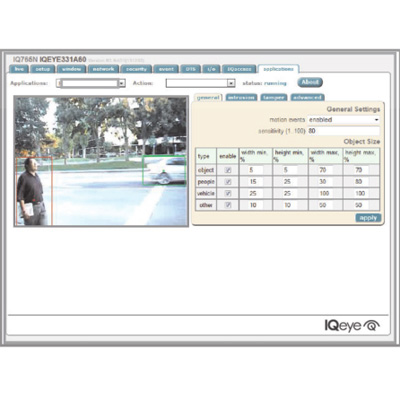 Vicon Analytics, embedded in the IQeye family of Vicon cameras, provides actionable insights