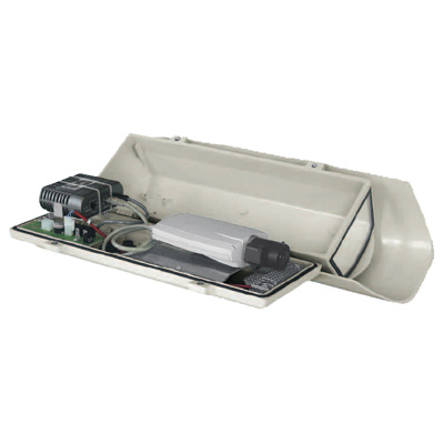 Videotec HOV HI-POE side opening aluminium housing with power heater and network camera