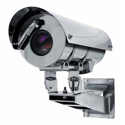 Videotec MAXIMUS MHX explosion proof stainless steel CCTV camera housing