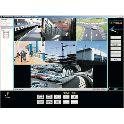 Visimetrics CONTROL SMS CCTV software for control and management of CCTV systems