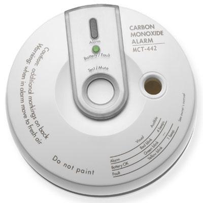 Visonic MCT-442 wireless supervised carbon monoxide detector