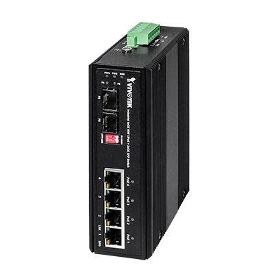 VIVOTEK AW-IHU-0600 Industrial 4xGE 60W UPoE + 2xGE SFP Switch