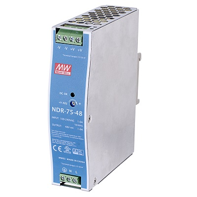 VIVOTEK NDR-75-12 75W single output industrial DIN rail