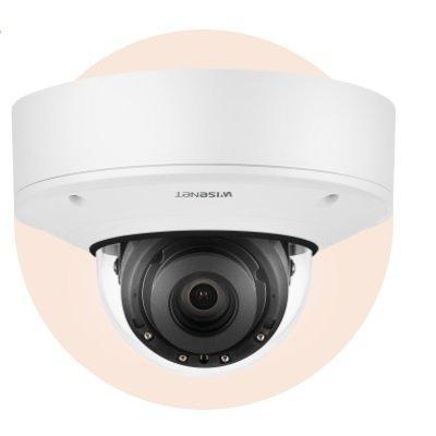 Hanwha Techwin XNV-9082R 4K Vandal-Resistant IR Outdoor Network Dome Camera