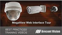 Arecont Vision MegaView megapixel IP camera web interface tour