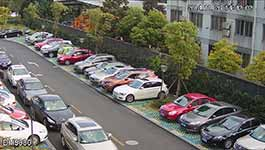 Dahua Technology's DH5000 monitoring parking area during daytime