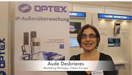 Optex  Marketing Manager for Europe at Security Essen 2014