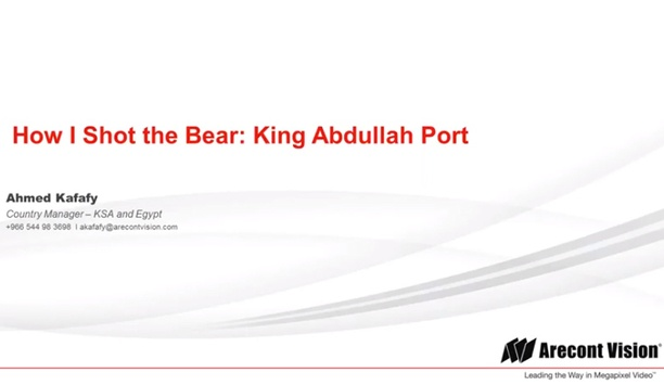 Arecont Vision case study - King Abdullah Port, Jeddah, Egypt