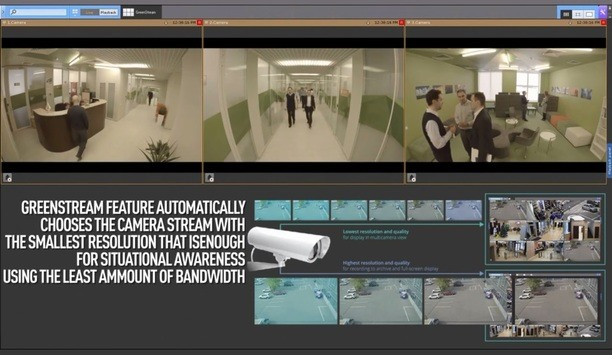AxxonSoft's GreenStream Technology Feature Allows For Multiple Cameras To Be Displayed On One Client
