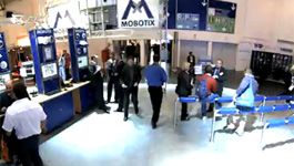 Mobotix Hemispheric Q22M - Mobotix stand at Security Show 2008 in Essen