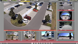 MOBOTIX MxManagementCenter demo: Grid view, zoom & hemispheric correction
