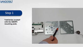 Vanderbilt GMXPO seismic detector mounting plate installation
