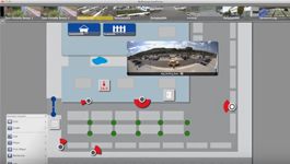 MOBOTIX MxManagementCenter demo: Graphic view and info view